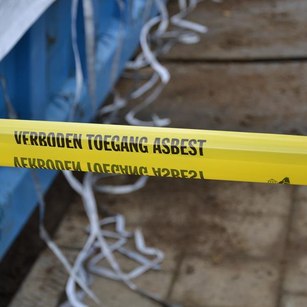 Verboden toegang asbest