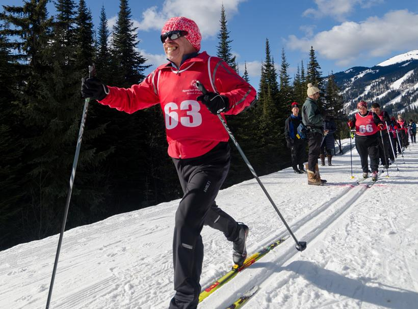 Special Olympics BC - Nanaimo cross country skier Dennis