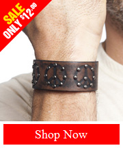 Tribut Apparel - Leather Peace Sign Wristband (Unisex)
