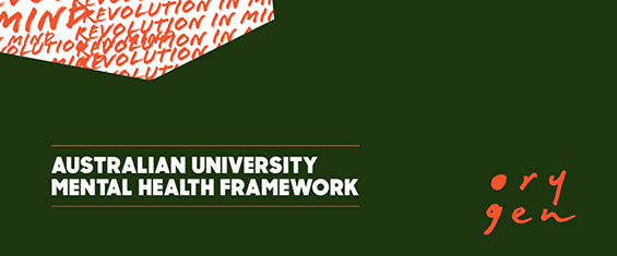 Orygen report cover: Australian University Mental Health Framework