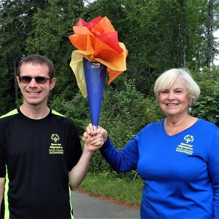 Special Olympics BC – Oceanside athlete Alex McLeod and proud mom/SOBC – Oceanside volunteer Barbara McLeod
