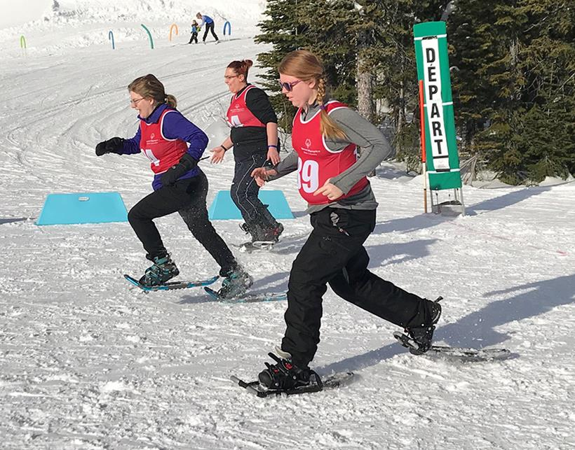 Special Olympics BC Performance Program snowshoeing January 2019