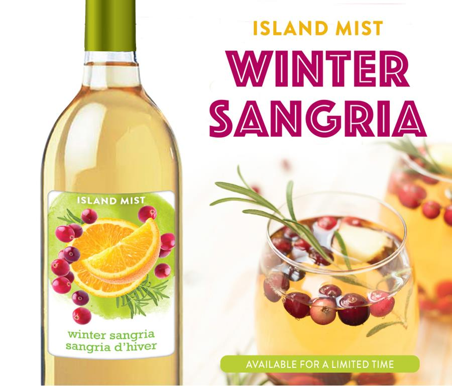 Limited Time Only! Island Mist Winter Sangria!
