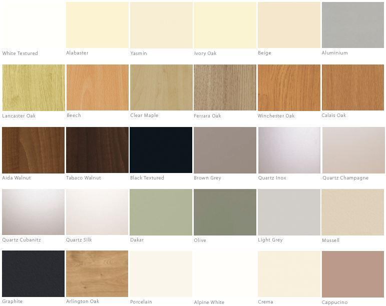 Carcase Colour Range