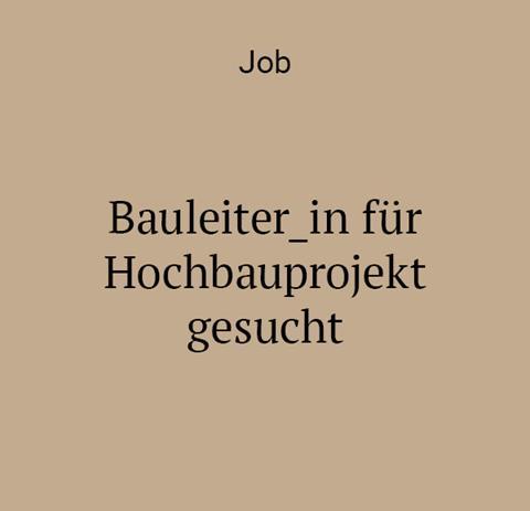 job bauleiter