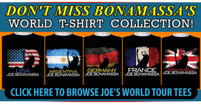 Don't miss Joe's World Tour Collection! Free Pick Tin With Any T-shirt Purchase! Click here to find your country now and get a free pick tin!