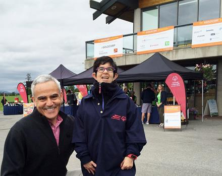 Goldcorp President David Garofalo and Special Olympics BC athlete Michaela