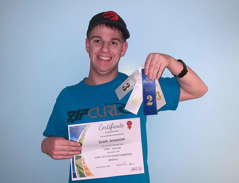 Special Olympics athlete Scott aced the first SOBC Virtual Competition!