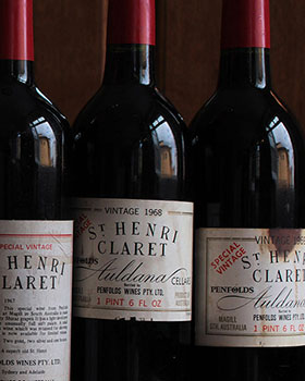 6 Vintages of Penfolds St Henri Shiraz Stretching Over 5 Decades