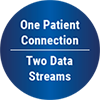 one patient connection - two data streams logo