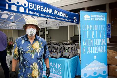 Imagen del personal de Burbank en el evento