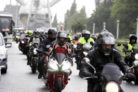 Protesting bikers