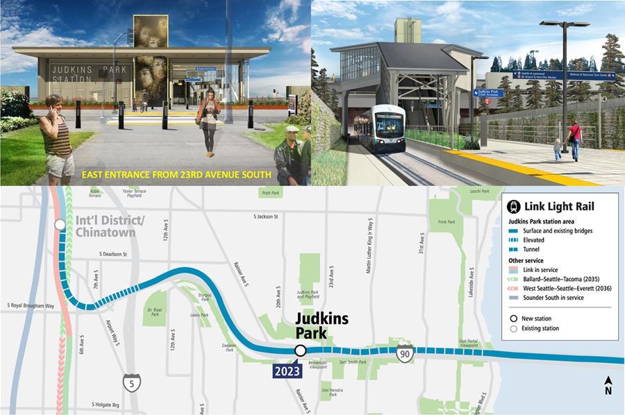 Future East Link Judkins Park light rail