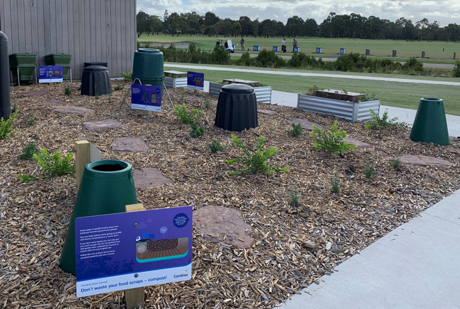Composting systems on display at Cardinia's new compost corner
