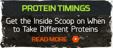 Best times to take protein