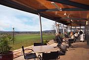 Outdoor eating at Balgownie Estate, Bendigo and Yarra Valley