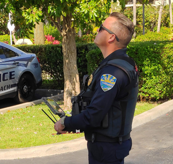 Officer Flying Drone